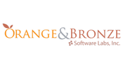 orange and bronze software logo
