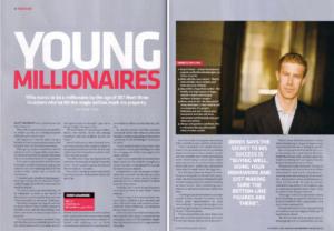 Derek Gallimore Young Millionaire magazine