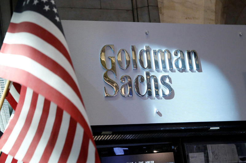 Goldman sachs logo with american flag