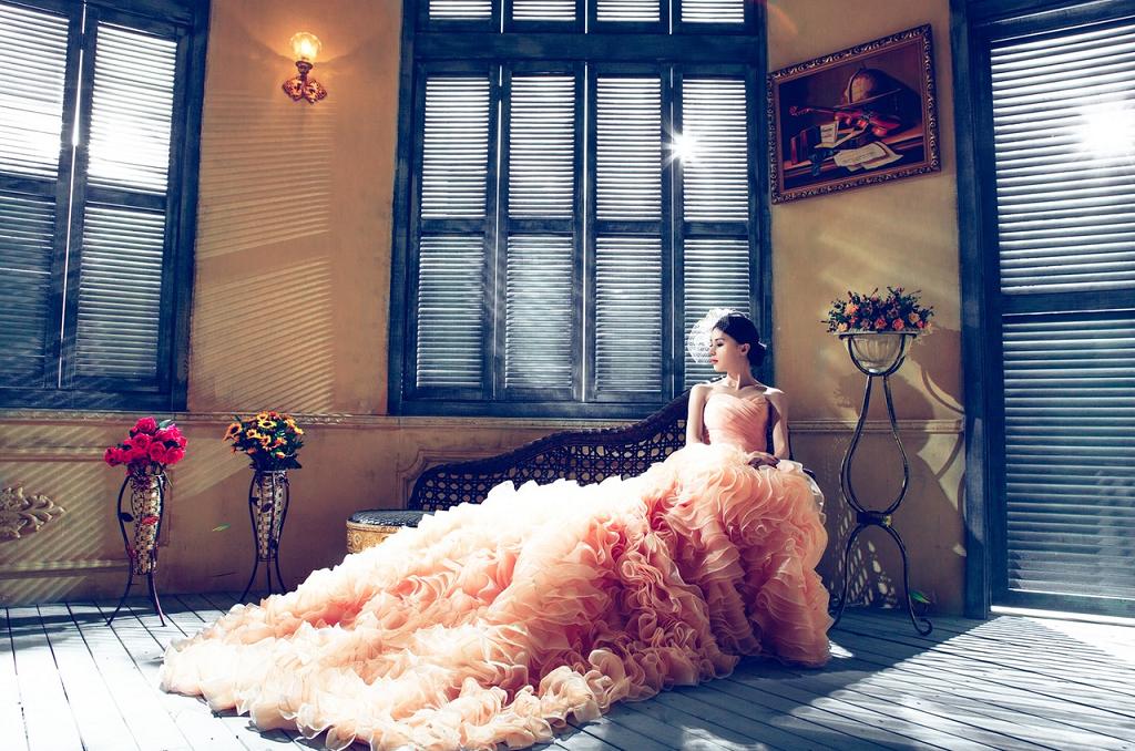 girl in long dress