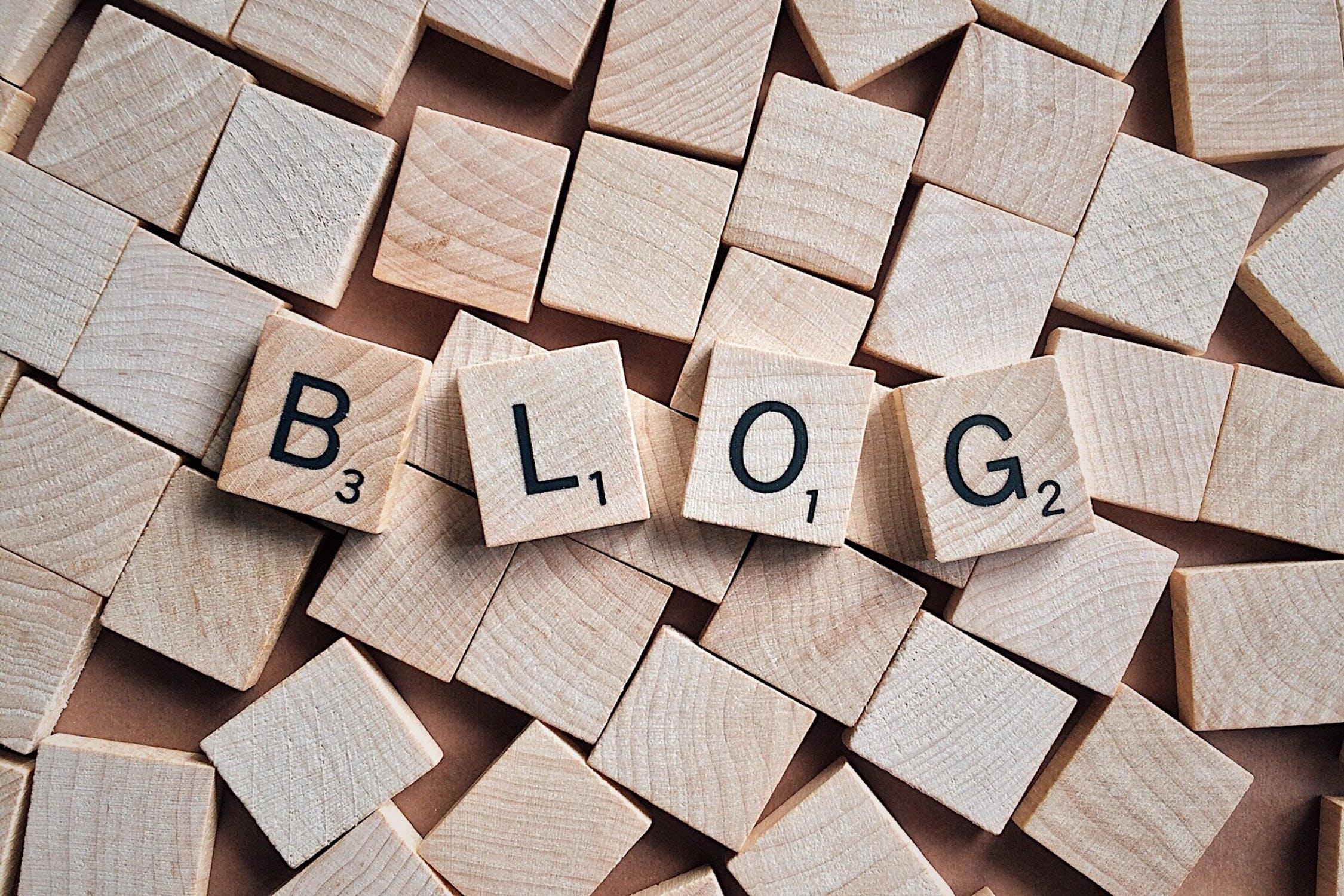 Blog word on wooden blocks