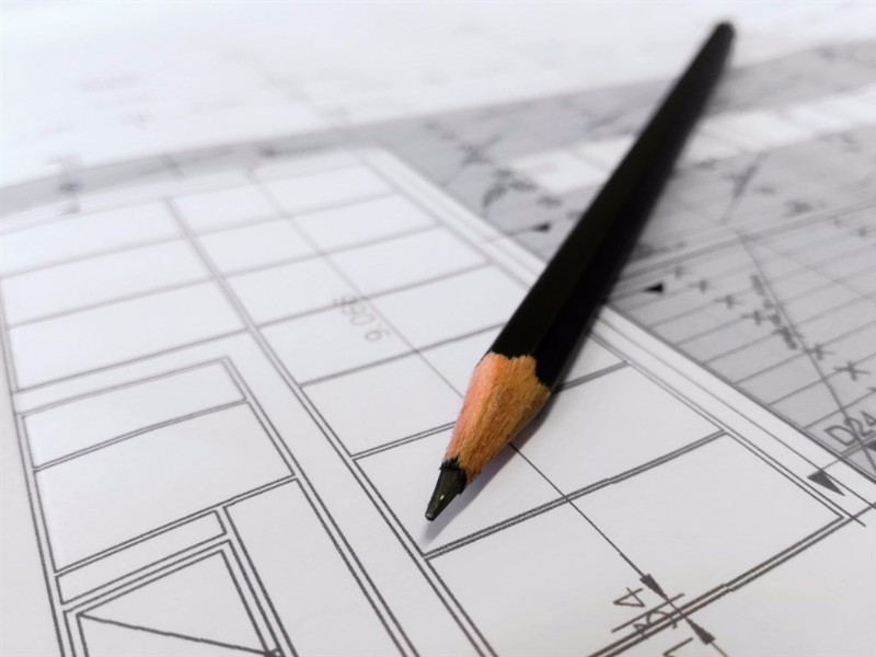 pencil and plan