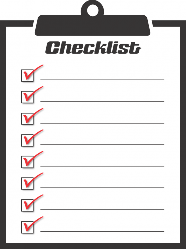 Sheet of Checklist