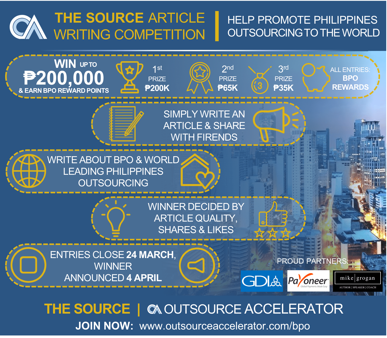 The Source Article Writing Competition Banner