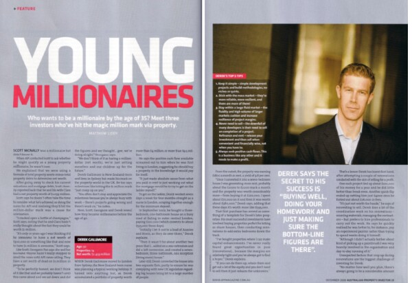 Young millionaires magazine scan