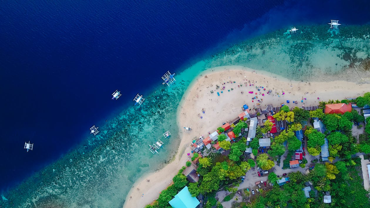 Aerial Beach View in the philippines