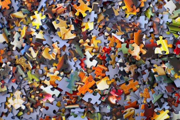 Disarranged puzzle pieces