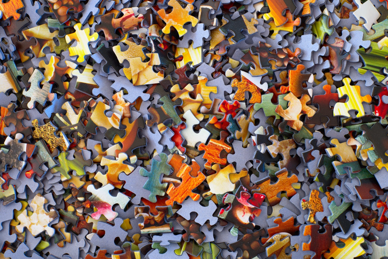 Disarranged puzzle pieces
