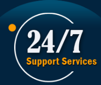 247 Logo Blue