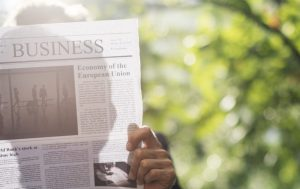 reading newspaper 2