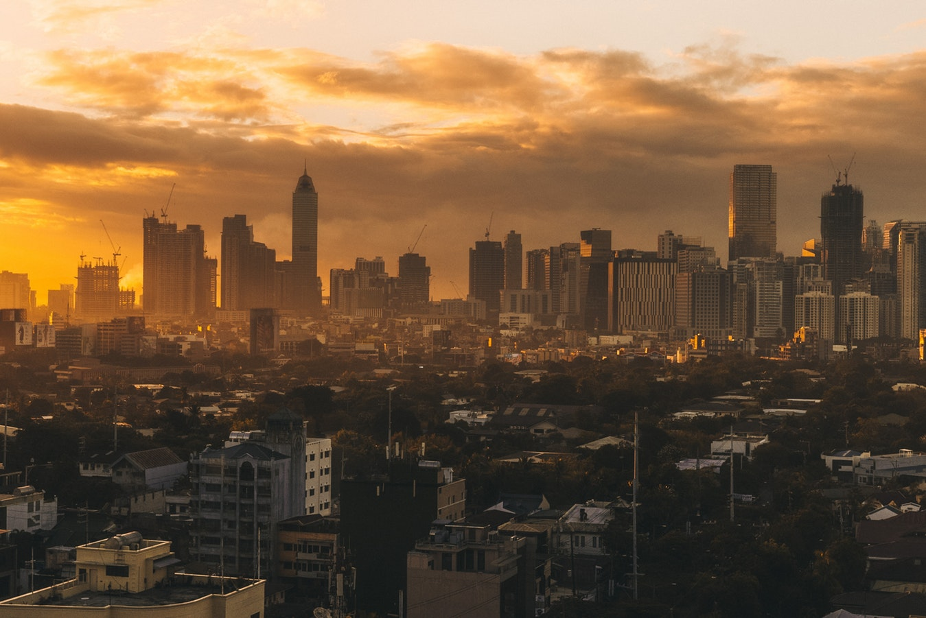 sunset over manila