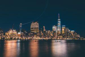 city lights shot