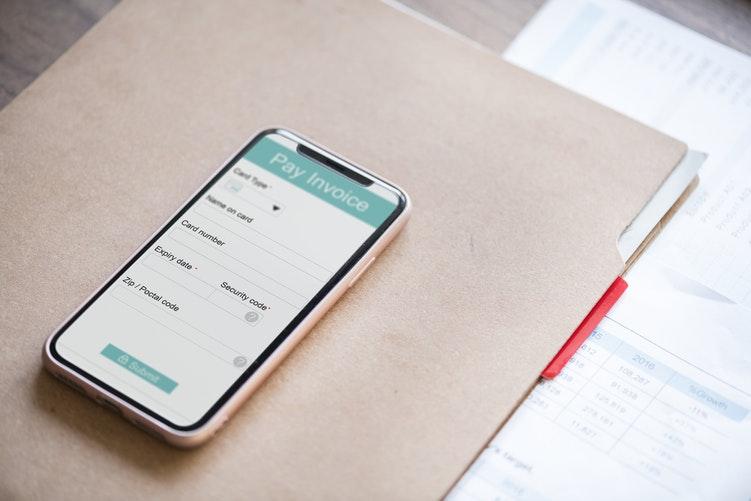 phone and folder