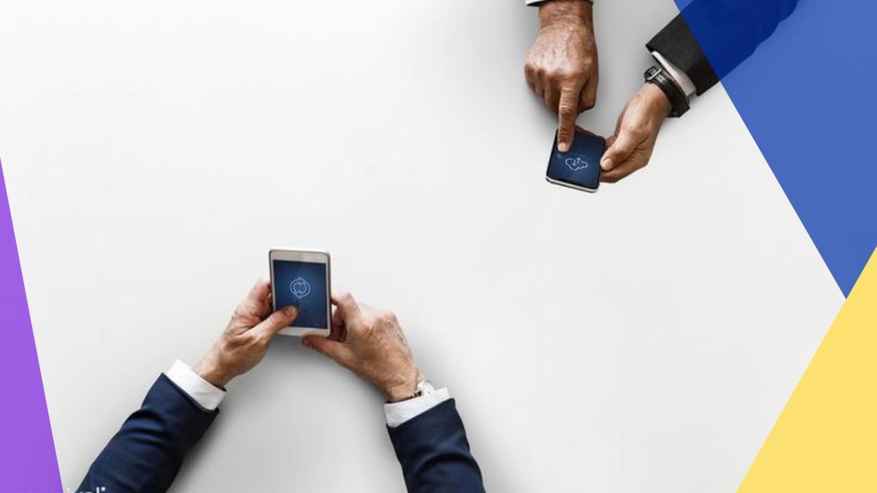 men on their phones