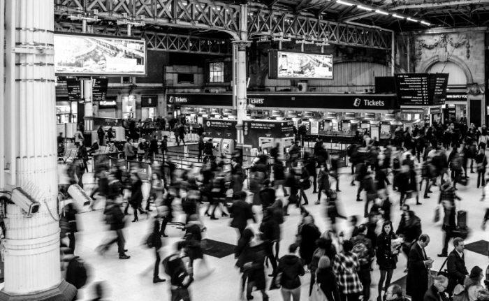 inside train station
