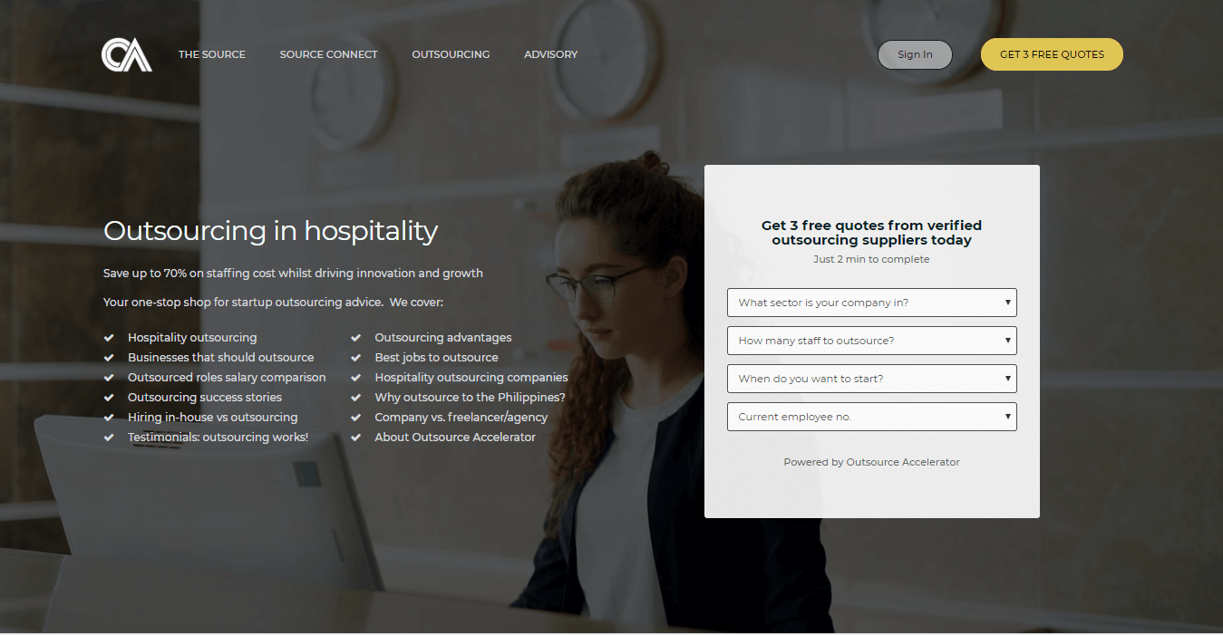 Outsourcing in Hospitality | Outsource Accelerator