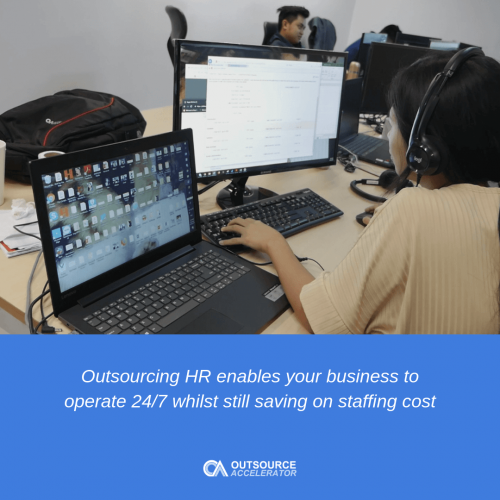 Services typically offered when outsourcing HR 1