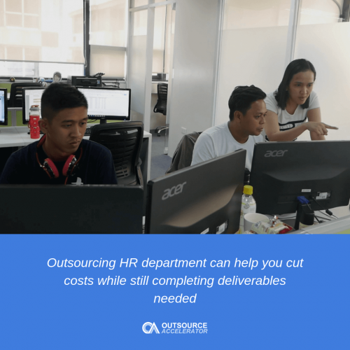Services typically offered when outsourcing HR