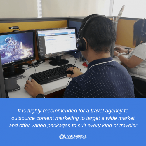 Benefits to travel agencies when they outsource content marketing