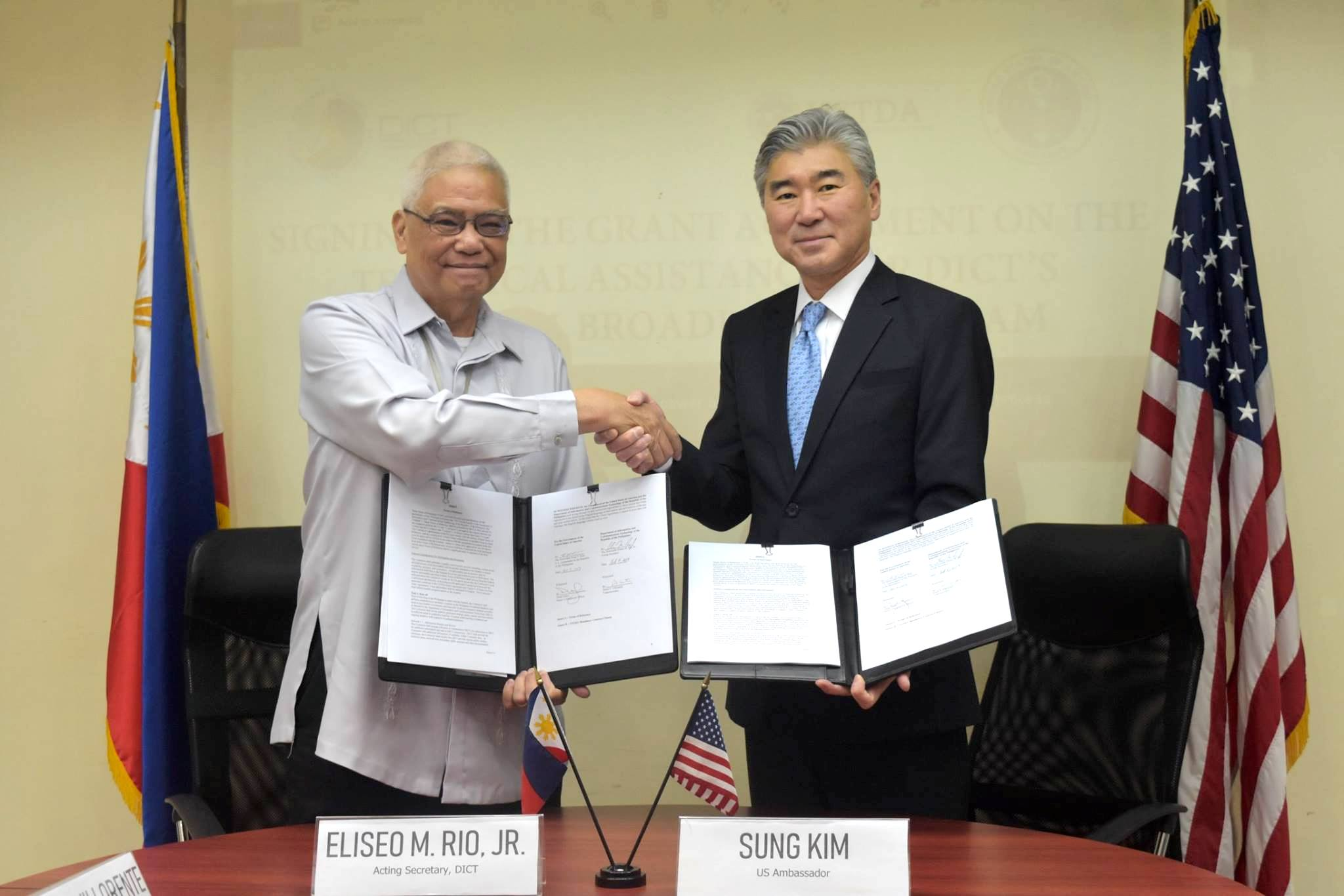 US grants Philippines PHP23.8m for broadband project