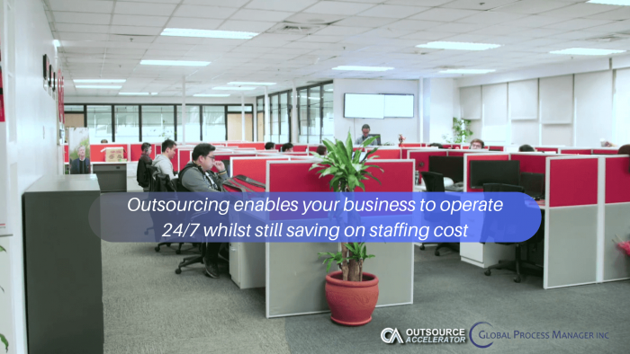Outsourcing enables your business to operate 24/7 whilst still saving on staffing cost