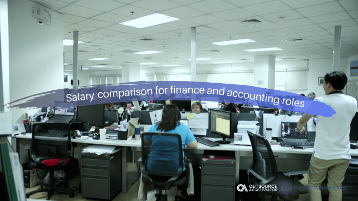 Salary comparison for finance and accounting roles