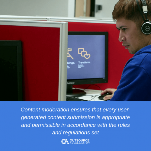 Content moderation outsourcing