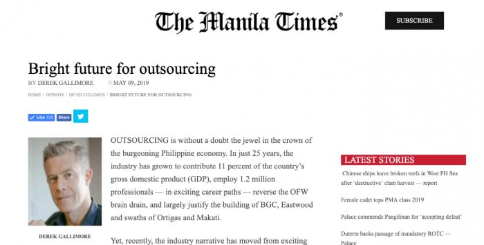 Manila Times Outsource Accelerator Derek Gallimore