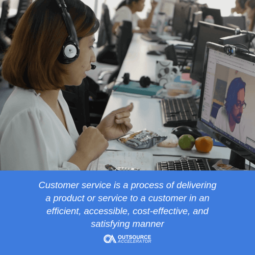 Outsourcing of customer service