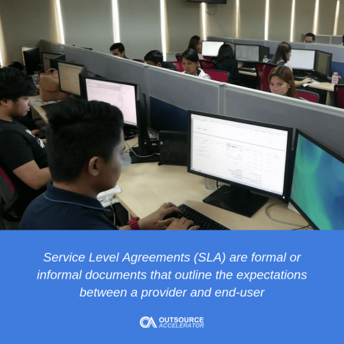Service level agreement call center