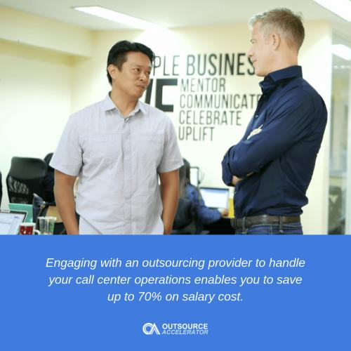 Outsourcing a call center
