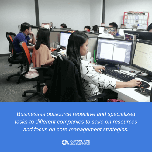What does outsourcing mean