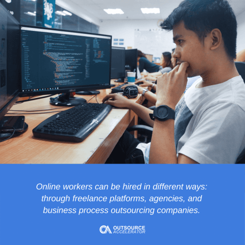 Different types of online workers