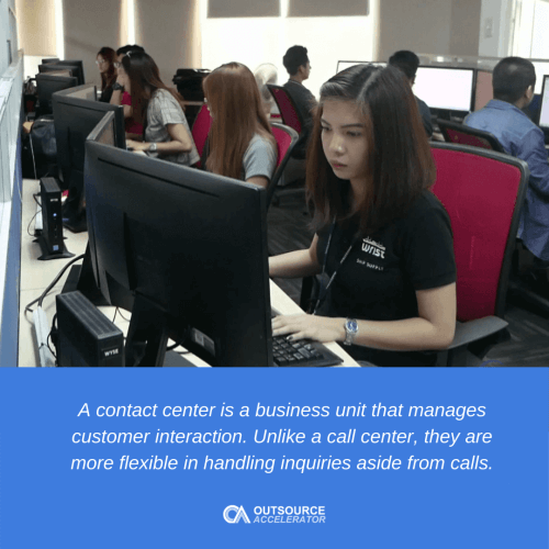 What is a contact center