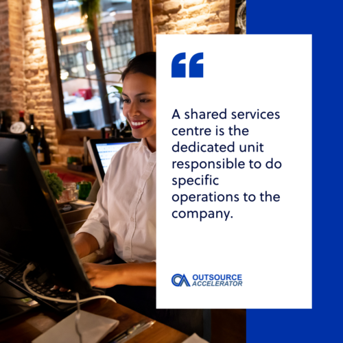 What is a shared services centre