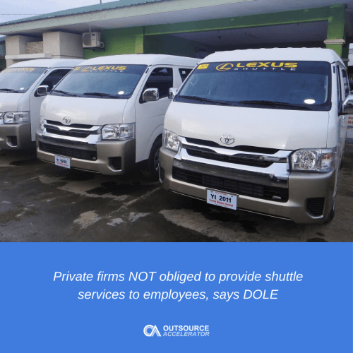Employers cannot force employees to go to work if the company can't provide shuttle service