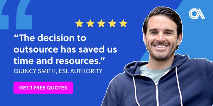Outsourcing testimonials - ESL Authority