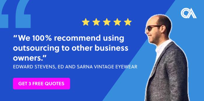 Outsourcing testimonials - Ed and Sarna Ltd.