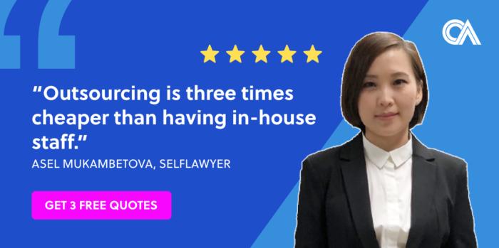 Outsourcing testimonials - SelfLawyer