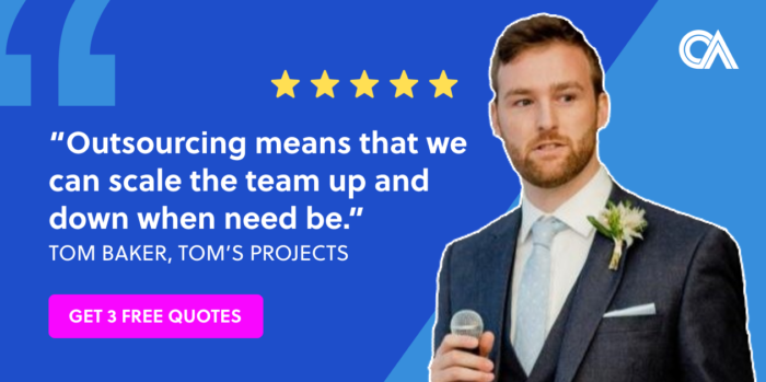 Outsourcing testimonials - Tom's Projects