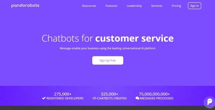 Pandorabots homepage
