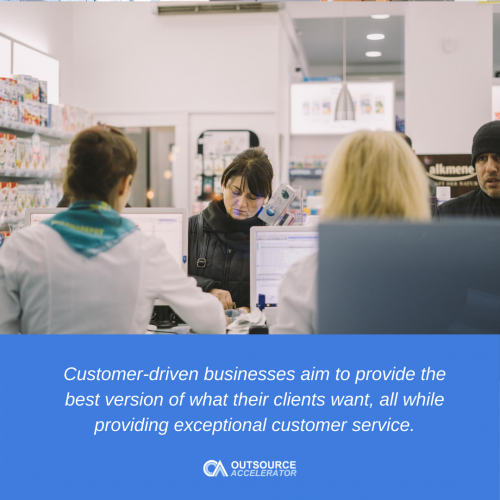 What are some ways that a business can establish a customer-first relationship with its clients