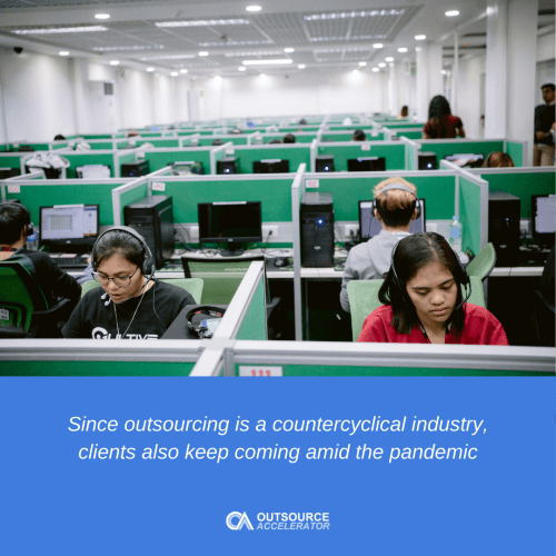 Outsourcing is a countercyclical industry