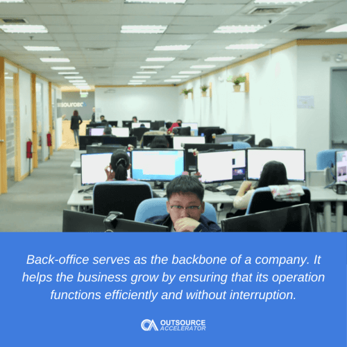 How important back-office support is to a business