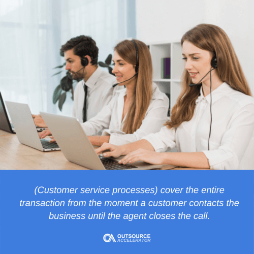 What are customer service processes