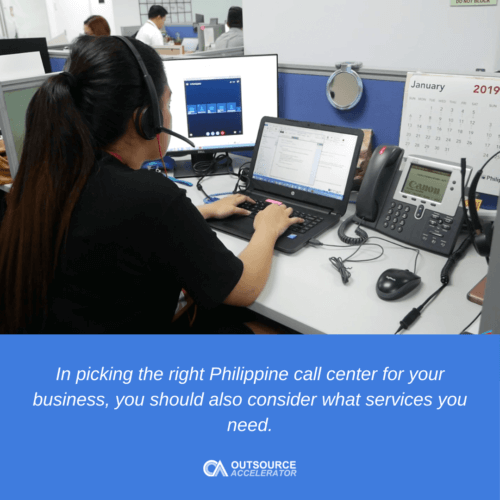 Call center services to delegate
