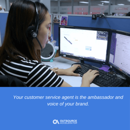 What is the role of a customer service agent?
