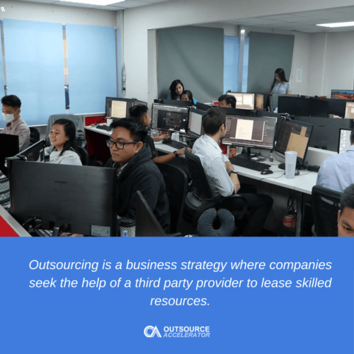 Offshore outsourcing helps businesses save up to 70% on employment costs.