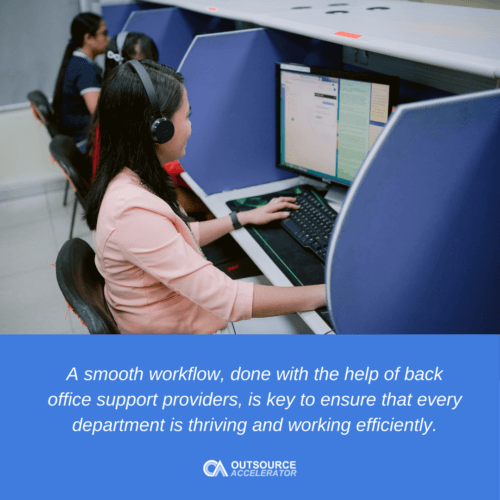 A smooth workflow is key to ensure that each department is sustaining what the company needs to thrive.