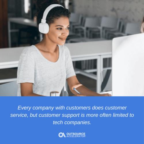 Customer support vs. customer service